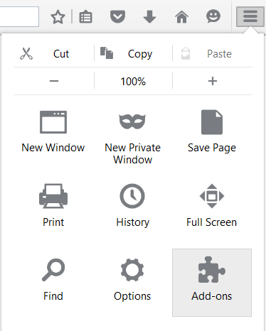 image of firefox uninstall menu